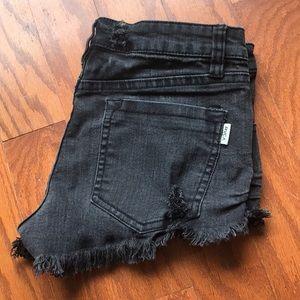RVCA Distressed Shorts